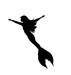 mermaid siren water nymph silhouette ancient vector image