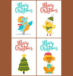 merry christmas and images vector image