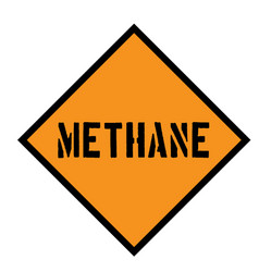 Methane sign on white vector