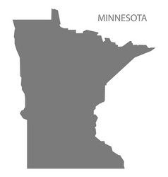 Minnesota usa map grey vector