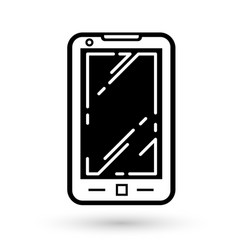 Mobile phone linear icon vector