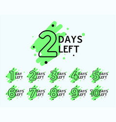 Number of days left tags vector