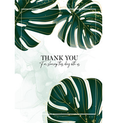 Palm leaves tropical design monstera jungle vector