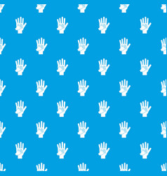Parent and child hands together pattern seamless vector