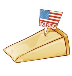 Parmesan united states tariffs on europe as vector