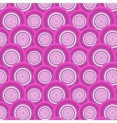 Pattern of pink circles vector