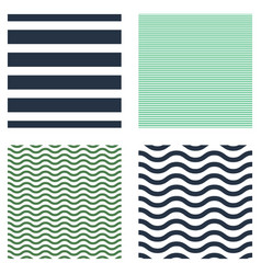 Pattern stripe seamless set design for wallpaper vector
