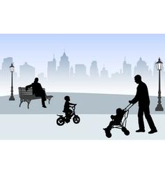 people on street vector image