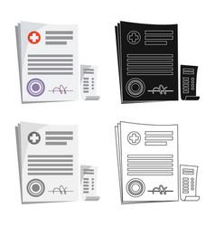 Pharmacy and hospital icon vector