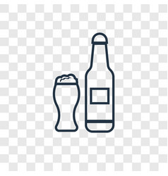 pint of beer concept linear icon isolated on vector image