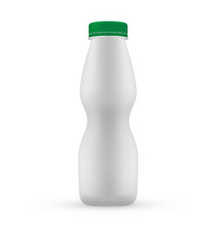plastic blank bottle with green screw cap fo vector image