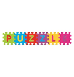 Puzzle written with alphabet puzzle vector