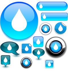 Raindrop signs vector