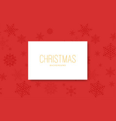 realistic snowflakes on red background christmas vector image