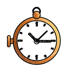 Retro pocket watch icon vector