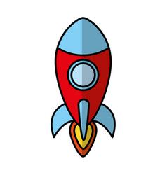 Rocket spaceship isolated icon vector