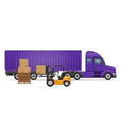 Semi truck trailer concept 03 vector