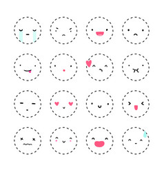 set of cute emotions vector image