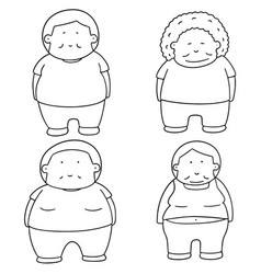set of fat people vector image