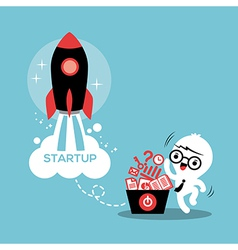 Start up entrepreneur business success vector image