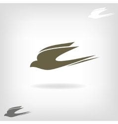 Stylized silhouette swallow vector image