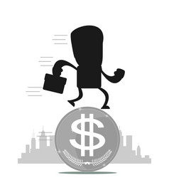 time for invest man with gold coin vector image