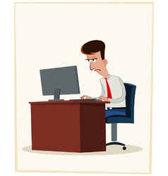 Tired worker vector