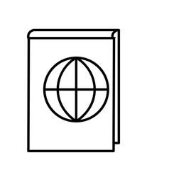travel book icon vector image