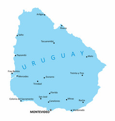 uruguay isolated map vector image