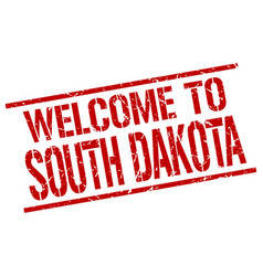 Welcome to south dakota stamp vector