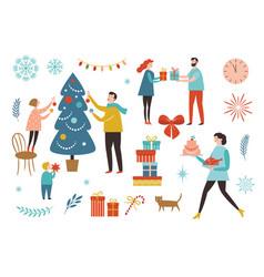 winter christmas scenery vector image