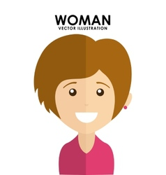 woman avatar vector image