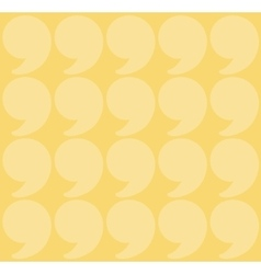 yellow quotation marks vector image