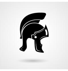 Ancient legionnaire helmet icon logo vector image vector image