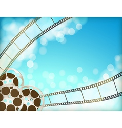 cinema blue background vector image vector image