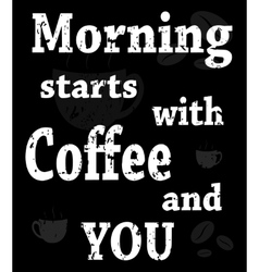 poster with words about coffee vector image vector image