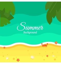 Summer Beach Background in Flat Design vector image vector image