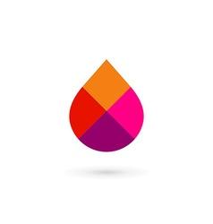 Water drop symbol mosaic logo design template icon vector image vector image