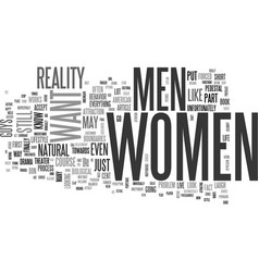 what women want text word cloud concept vector image vector image