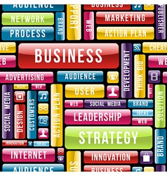 Business strategy concept pattern vector image vector image