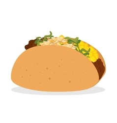 cartoon taco food mexico design isolated vector image