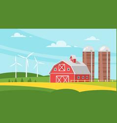 farm building - rural barn vector image