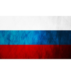 Grunge Russian flag vector image
