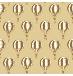 Seamless Pattern with Vintage Balloons vector image vector image