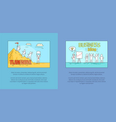 teamwork and business idea vector image vector image