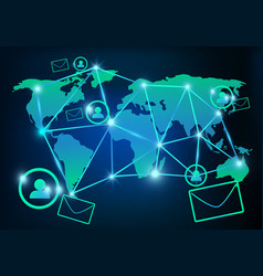 technology email marketing and communications vector image