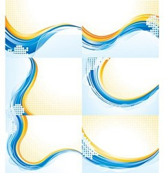 Wave patterns vector image vector image