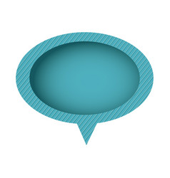 blue chat oval bubble icon vector image