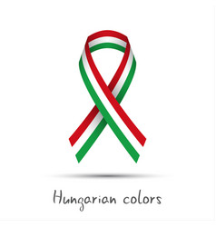 colored ribbon with the hungarian tricolor vector image vector image