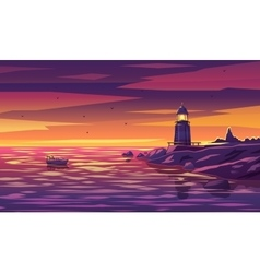 Colorful lighthouse for any vector image vector image